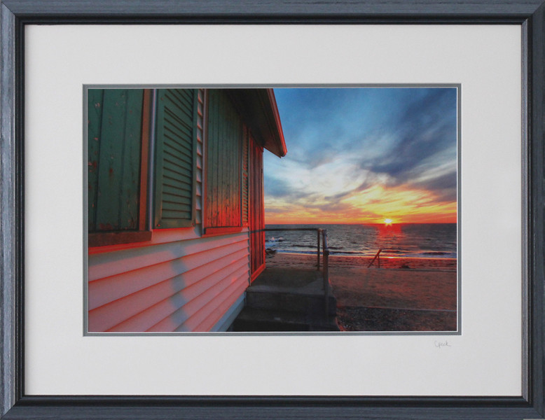 Days Cottage photograph in a 18 x 24 inch Black Grey Wire Brush frame. Photo size 12 x 18 inches.Tru Vue conservation grade glass with 99% UV protection