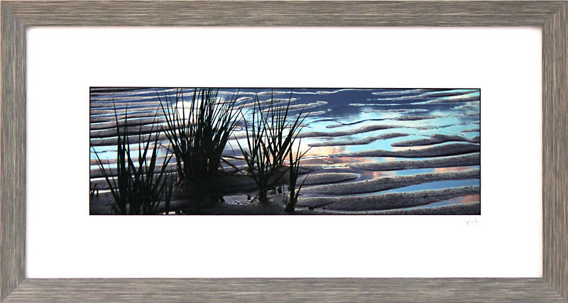 Sea Grass <br /> 10 x 20 inch frame<br /> 5 x 15 photo size. Tru Vue conservation grade glass with 99% UV protection.