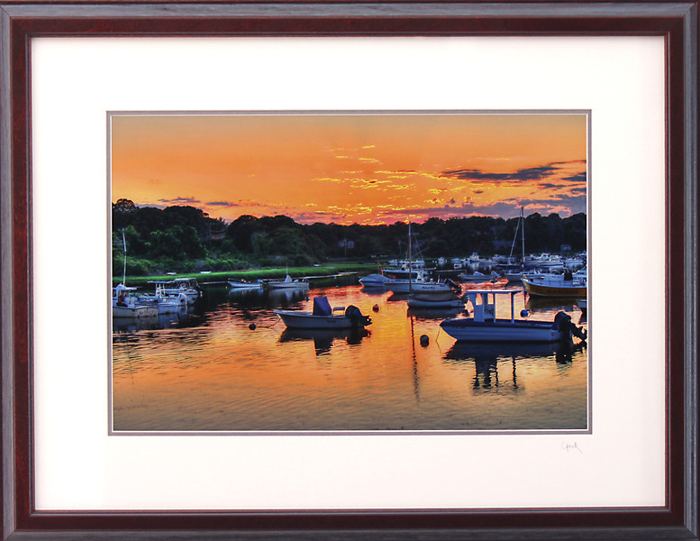Ryders Cove Boats<br /> 18 x 24 inch frame. 12 x 18 inch photo size.<br /> Tru Vue conservation grade glass with 99% UV protection.