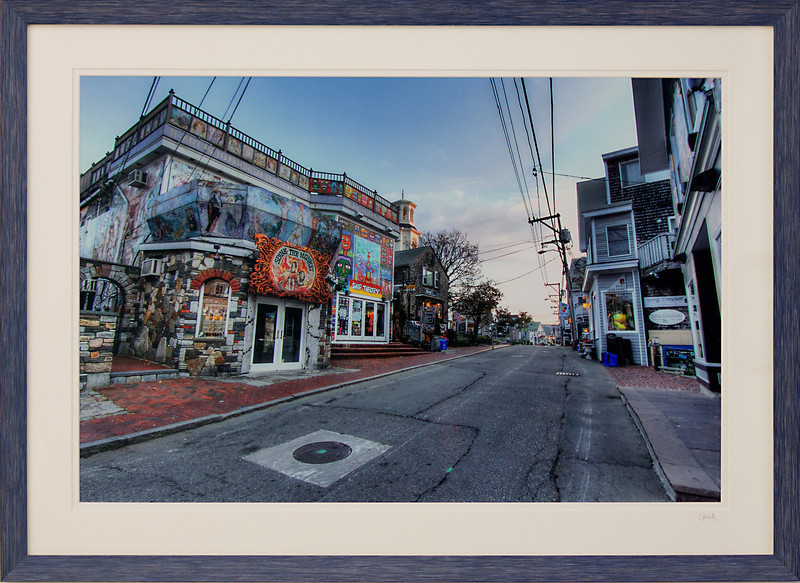 Commercial Street Provincetown MA<br /> 20 x 28 inch frame. 16 x 24 inch photo size.<br /> Tru Vue conservation grade glass with 99% UV protection