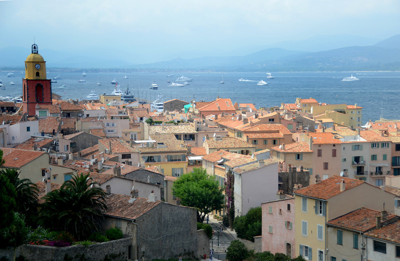 View from a hill in St. Tropez.