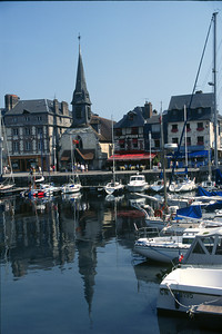The Old Harbor, or Vieux Bassin and old St-Etienne Church