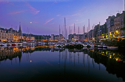 The Old Harbor, or Vieux Bassin early evening, Honfleur