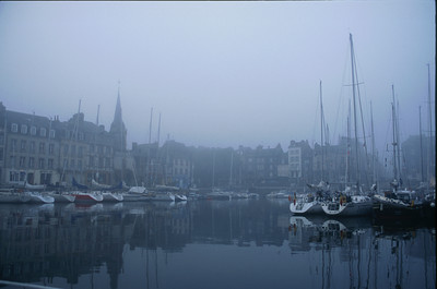 The Old Harbor, or Vieux Bassin, foggy morning