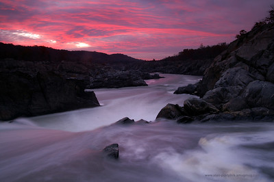 Great Falls National Park, Virginia. Sunrise. f/16, 10 sec, Circular Polarizing Filter, Neutral Density 2 Stop Graduated filter, tripod. More images of this style here: http://stan-pustylnik.smugmug.com/gallery/315044/2/108089871 Please, print.