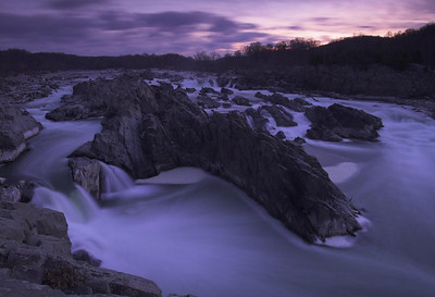 Early morning shot of Great Falls national Park, Virginia. About 20 min before sunrise.