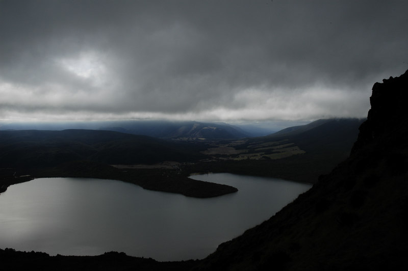 cloud lowering over lake rotoiti, nelson lakes