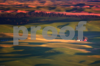 Palouse Sunset from Steptoe Butte Eastern Washington
