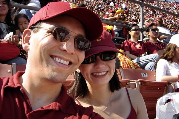 Eric and Val are both enjoying the game...especially because USC has taken an early lead