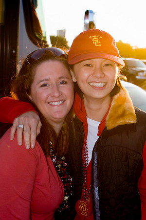 Karen and Valerie before we head to the game (unfortunately, security prevents me from bringing my camera into the stadium)