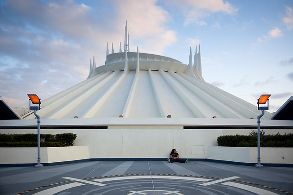 Space Mountain before sunset