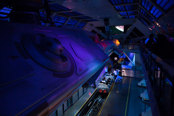 Lori and I step inside Space Mountain