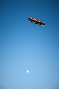 If only the blimp passed a little closer to the moon