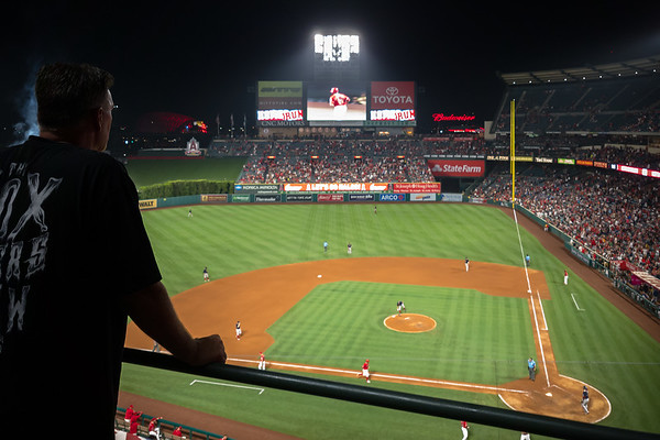 Martin Maldonado (12) hits a solo home run.  Finally the Angels have something to cheer about and my phone refuses to focus on the one who gave it to them