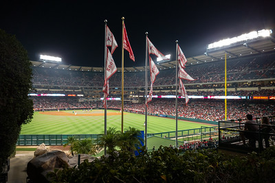 """View from left center field, overlooking a portion of the """"California Spectacular"""""""