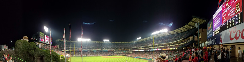 Smartphone panorama from left field