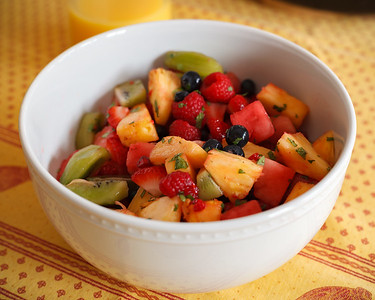 Cheryl brought fruit salad