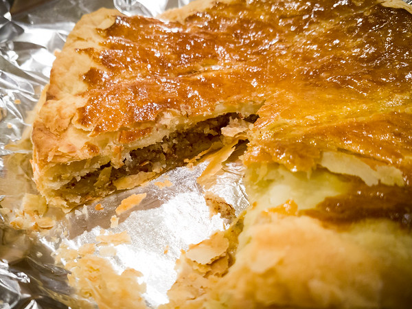 Valerie's first galette de rois is excellent!  Can't wait to have more of this...