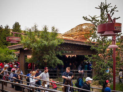 This whole section of the park has been themed as Radiator Springs from Pixar's Cars