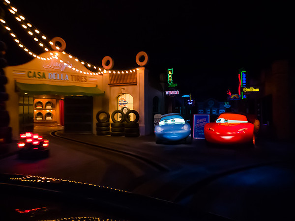 They did a great job incorporating the Cars characters and film locations
