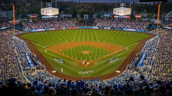I wait here to see Chris Taylor, the leadoff Dodger hitter, step up to the plate
