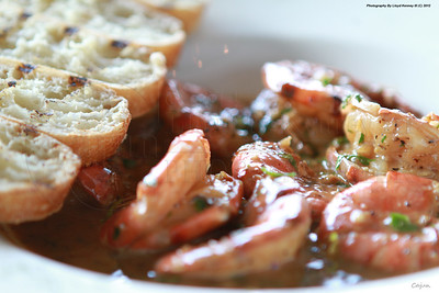 The Boat House - BBQ Shrimp. Chattanooga, Tn. Photography By Lloyd R. Kenney III (C) 2012 All Rights Reserved