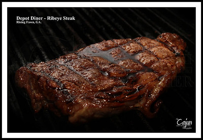 Depot Diner - Ribeye Steak. Rising Fawn, Ga. Photography By Lloyd R. Kenney III (C) 2012 All Rights Reserved