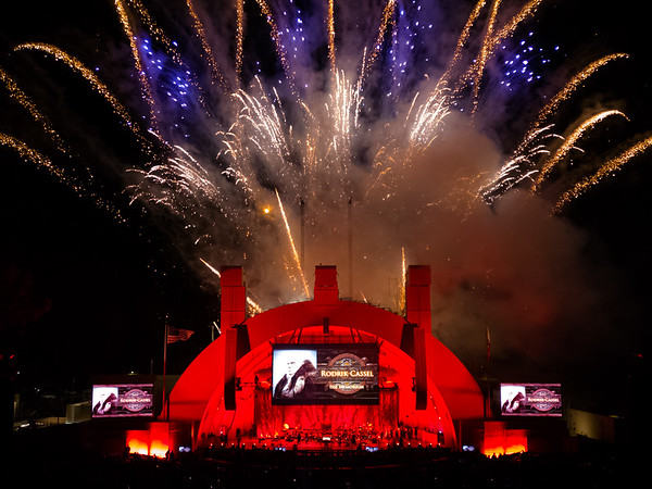 """Fireworks accompany an """"Isse Memorium"""" after the performance concludes"""