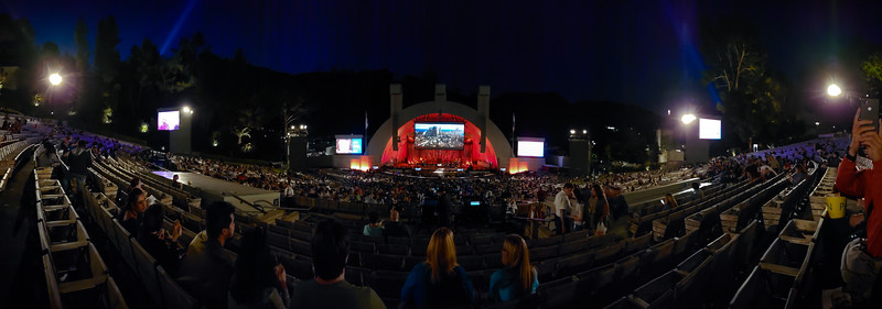 View from our seats at the Hollywood Bowl (smartphone panorama)