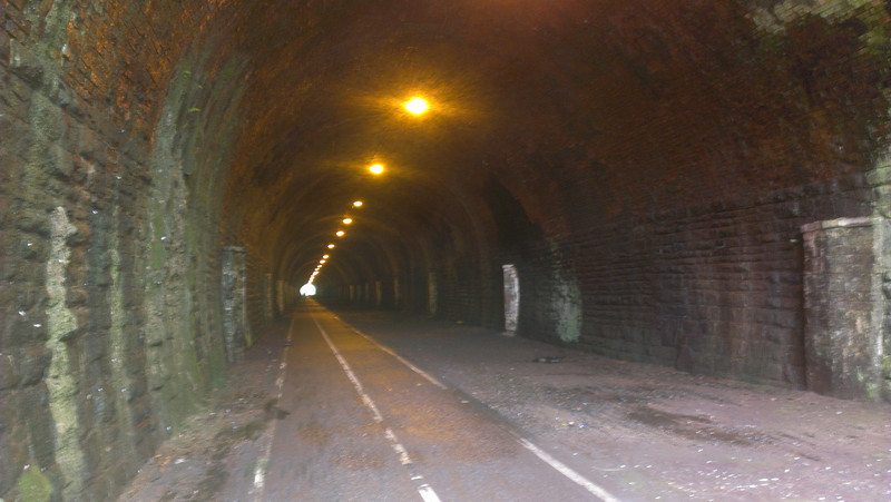 A damp tunnel
