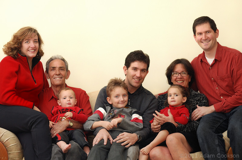 Our family during a recent visit to the grandparents in Brazil.