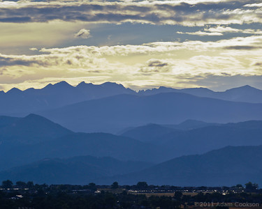 Late afternoon in the Rocky Mountains.