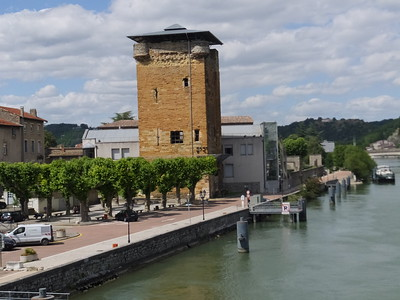 Tower of Philippe de Valois, Vienne By the Banks of the Rhone built in 293 AD, a sort of guardian outpost which controlled the entrance and exit to and from the neighbouring Lyonnais, Vienne.