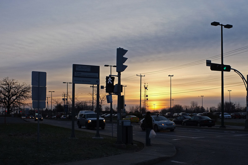 Sunrise at the train station