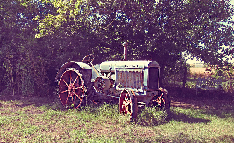 An old McCormick Deering Tractor