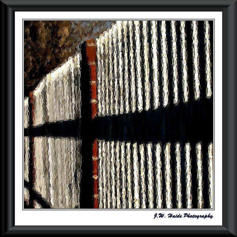 Fence in Hillsboro, Oregon. Was experimenting with the brush stroke effect in PaintShop Pro