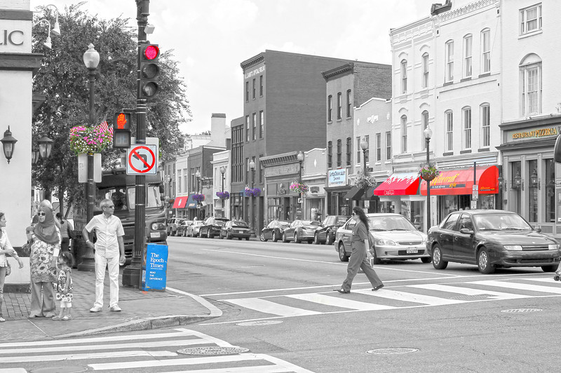 Streets of Georgetown, DC July 2012 Copyright Sue Steinbrook