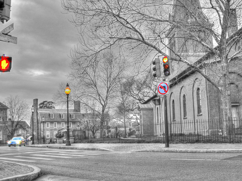 Spring arrives at Church Circle, 2011 Copyright Sue Steinbrook