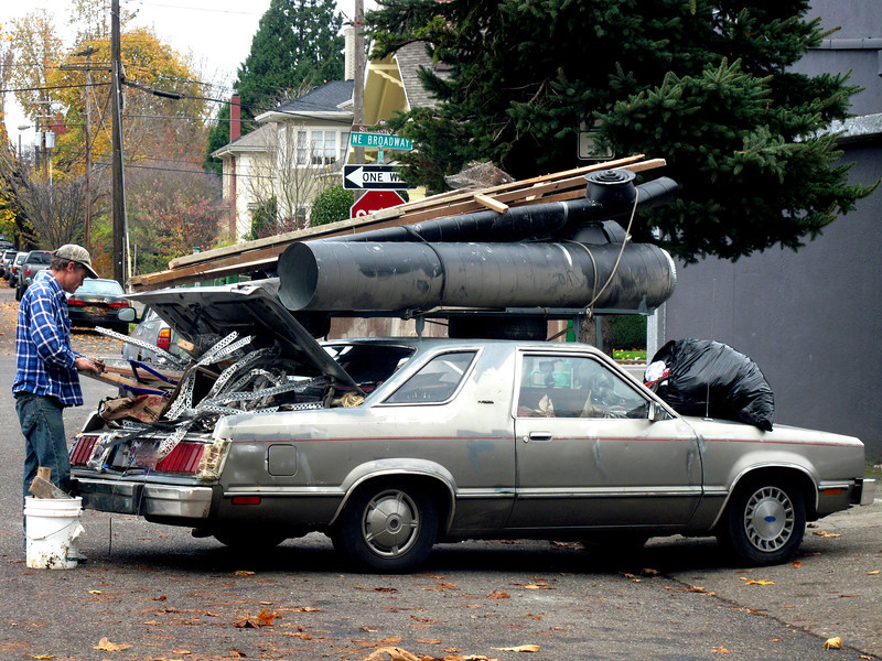 Keeping Portland Weird!<br /> I don't think one more thing will fit in this..