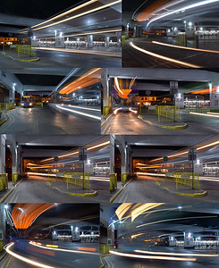 Fun with light trails in the bus station