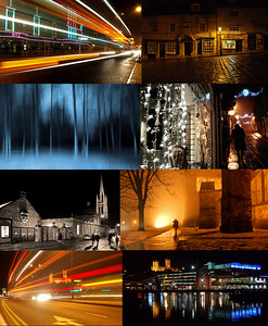 A collage showing some of the wide variety subjects that we cover, and the wonderful venues Lincoln has to offer at night. From straightforward scene capturing to special effects such as light trails and using camera movement to create ethereal images