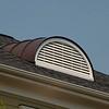 PVC Dormer vent w/copper standing seam roof