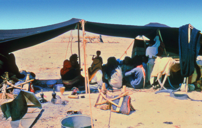 South Arabia (1963) - Bedouins camped outside the fort at Thamud.