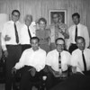 South Arabia (1965) - The core group posed in Flossie's lounge in Aden. Back row from left - Me, Art Johnson, Flossie, Joe Olegano, Don Rusk. Front row from left - Khaled Madhat Kamal, John, Ivo Fellerson.
