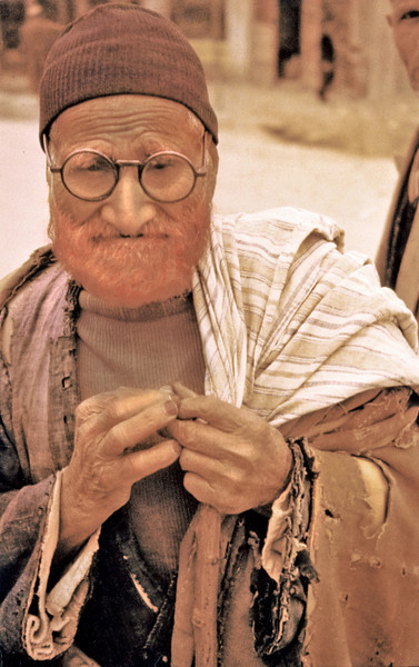 Iran, Yazd (1961) - Old man. The red colour in his beard is henna. It indicates that he has made the pilgrimage (Hajj) to the holy city of Mecca.