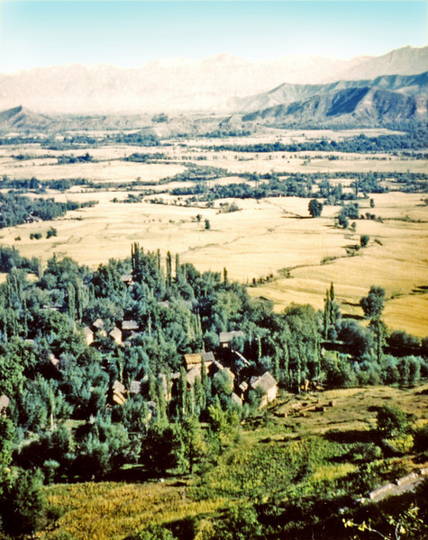 India (1958) - My first glimpse of Kashmir from Banihal Pass.
