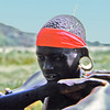 Africa, Kenya, Lake Bogoria (1965) - Chugun boy who visited our campsite. Note wooden plug in his ear.