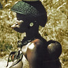 Nigeria, Jos (1959) - Zulwa woman and child. Note large disc inserted in her upper lip.
