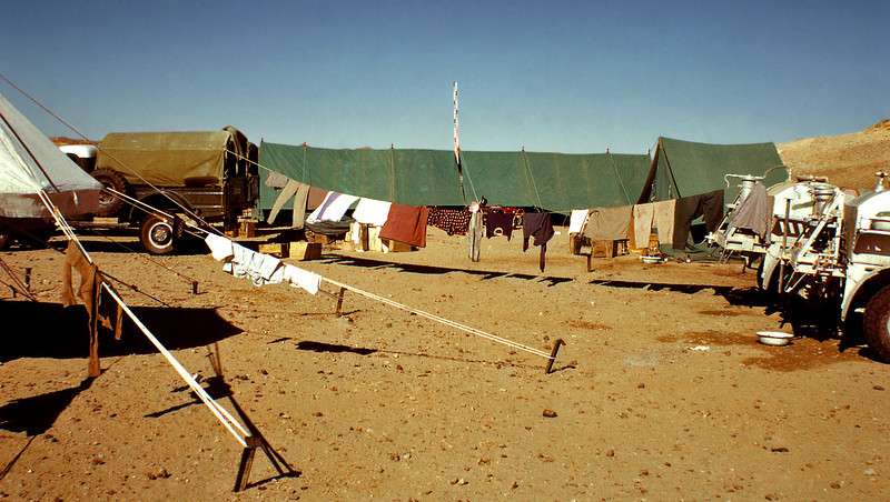 South Arabia (1965) - Laundry day in camp. Somewhere in the Northern Desert.