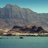 South Arabia (the 1960s) - Jebel Shamsun from the sea.